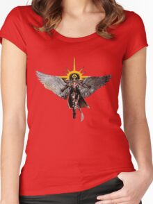Warhammer 40k Living Saint Vector Women's Fitted Scoop T-Shirt