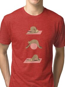 Sloth Pilates Tri-blend T-Shirt
