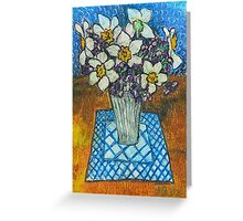 Daffodils oil pastel Greeting Card