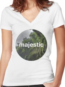 Unofficial Majestic Casual design 2 Women's Fitted V-Neck T-Shirt