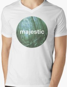 Unofficial Majestic Casual design bamboo Mens V-Neck T-Shirt