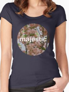 Majestic casual unofficial design Women's Fitted Scoop T-Shirt