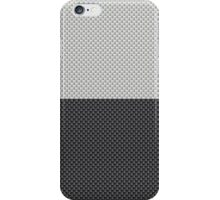 Black and White Two Tone Half and Half White Top Kevlar Carbon Fiber Pattern  iPhone Case/Skin