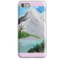 Mountains blue iPhone Case/Skin