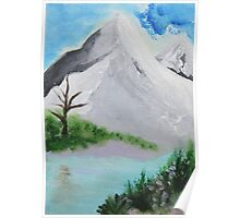 Mountains blue Poster