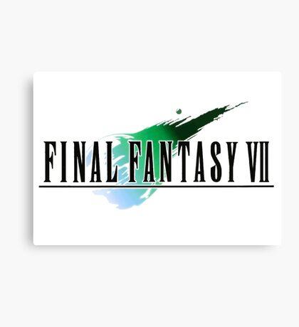 FF7 Logo Highest Quality Canvas Print