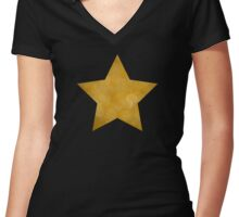 Gold Star Women's Fitted V-Neck T-Shirt