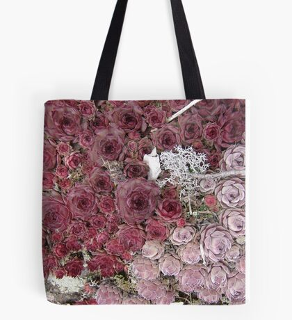 Stonecrop on a Granite Boulder Tote Bag