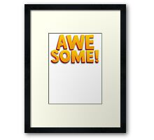 Awesome 3D Comic Text T Shirt Framed Print
