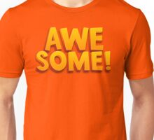 Awesome 3D Comic Text T Shirt Unisex T-Shirt
