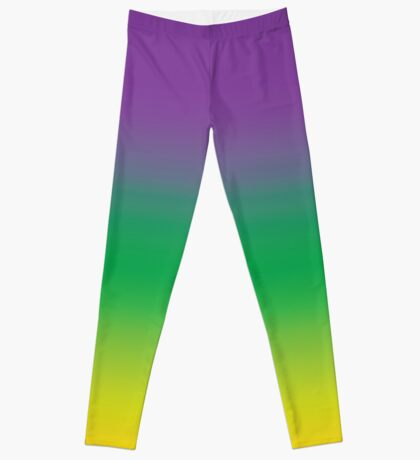 Purple Green and Gold (Mardi Gras) Leggings