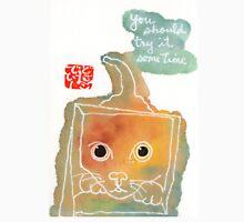 cat in a box (v.1) Unisex T-Shirt