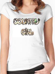 COUNTRY GIRL camotree Women's Fitted Scoop T-Shirt