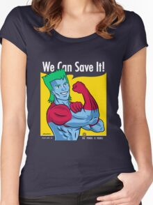 We Can Save It! Women's Fitted Scoop T-Shirt