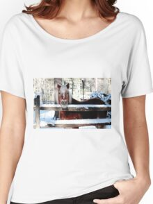 Horse on a pretty winter day Women's Relaxed Fit T-Shirt