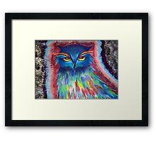 Psychedelic Owl  Framed Print