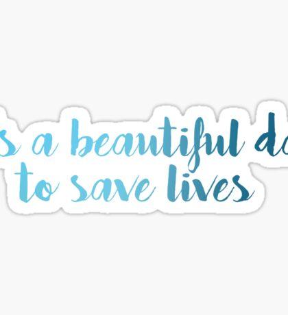 Grey's Anatomy McDreamy Quote 4 Sticker