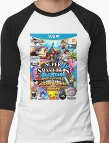 Turbo Super Smash Bros All-Stars Battle Royale at the Olympic Games HD Remix & Knuckles Men's Baseball ¾ T-Shirt