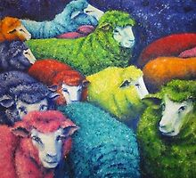 Cosmic sheep collection by MaryJo Gillies