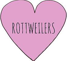 Rottweiler Love by Bundjum