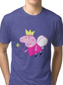 Peppa pig fairy Tri-blend T-Shirt