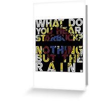 Nothing but the rain [mandala] Greeting Card