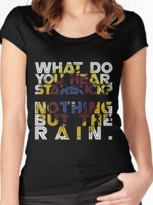 Nothing but the rain [mandala] Women's Fitted Scoop T-Shirt