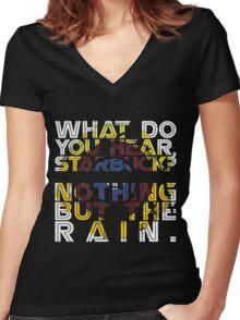 Nothing but the rain [mandala] Women's Fitted V-Neck T-Shirt