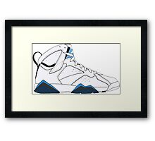 "Air Jordan VII (7) ""French Blue"" Framed Print"