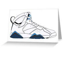"Air Jordan VII (7) ""French Blue"" Greeting Card"