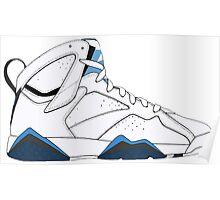 "Air Jordan VII (7) ""French Blue"" Poster"