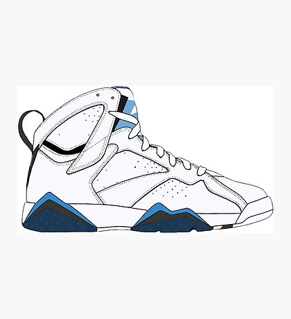 "Air Jordan VII (7) ""French Blue"" Photographic Print"
