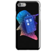 Tom Baker Fourth Doctor Silhouette  iPhone Case/Skin