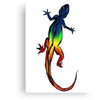 Colored Lizard Canvas Print