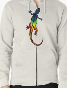 Colored Lizard Zipped Hoodie