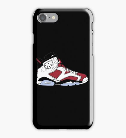 "Air Jordan VII (6) ""Carmine"" iPhone Case/Skin"