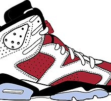 "Air Jordan VII (6) ""Carmine"" by gaeldesmarais"