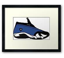 """Air Jordan XIIII (14) Low """"Laney"""" Framed Print"""