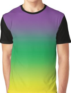 Purple Green and Gold (Mardi Gras) Graphic T-Shirt