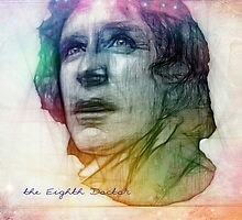 The Eighth Doctor Sketch Drawing in Rainbow Colors by Alondra