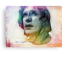 The Eighth Doctor Sketch Drawing in Rainbow Colors Canvas Print