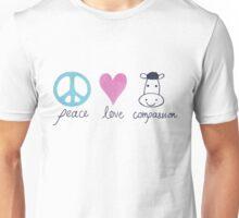 Peace, Love, Compassion Unisex T-Shirt