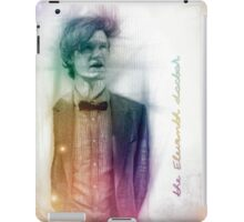 The Eleventh Doctor with pencil sketch iPad Case/Skin