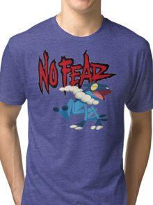 NoFearFrogadier logo Tri-blend T-Shirt