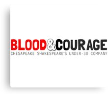 Blood & Courage: Chesapeake Shakespeare's Under-30 Company Metal Print