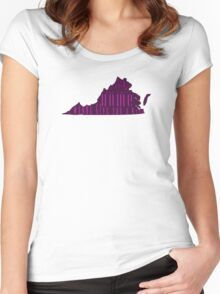 Virginia, My Home Sweet Home, I Wanna Give You A Kiss Women's Fitted Scoop T-Shirt