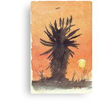 Aloe sunset Canvas Print