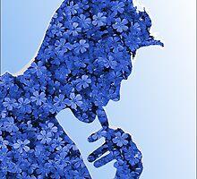 Morrissey in flowers by tospeakisasin