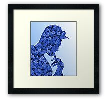 Morrissey in flowers Framed Print