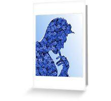 Morrissey in flowers Greeting Card